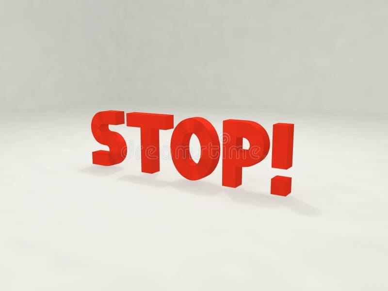 stopp 3d royaltyfri illustrationer