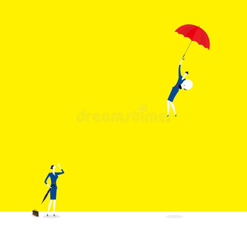 Stopp eller uppåt stock illustrationer
