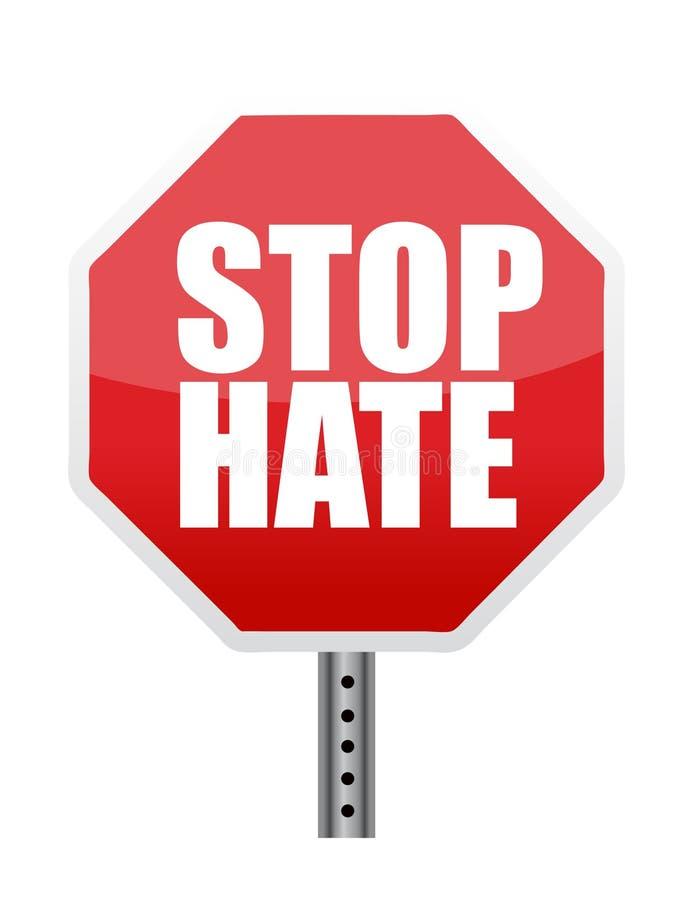 stopp för hatavläsningstecken stock illustrationer