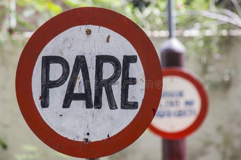Stopp för teckenplatta royaltyfri bild