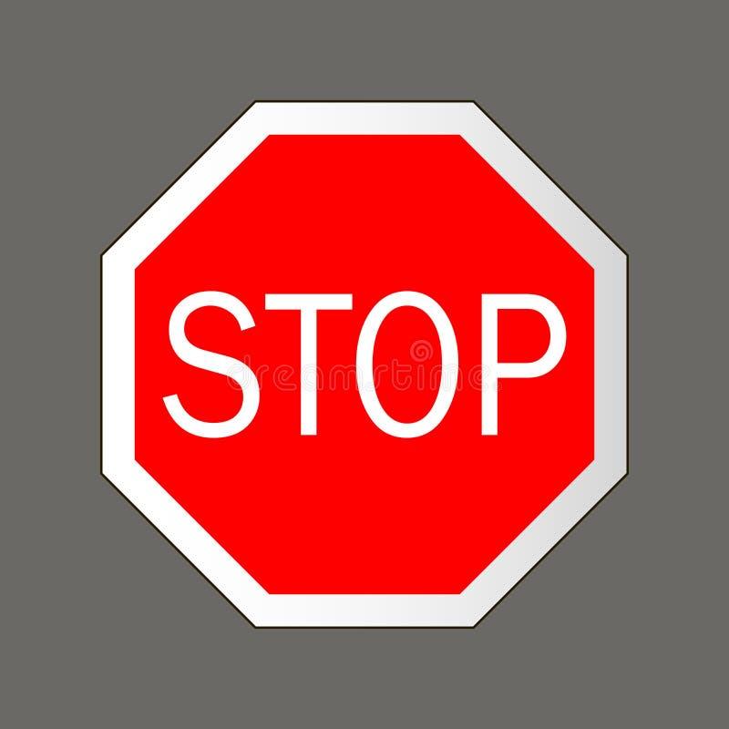 Stopp område isolerade gångare förböd upp restricted vägmärken royaltyfri illustrationer