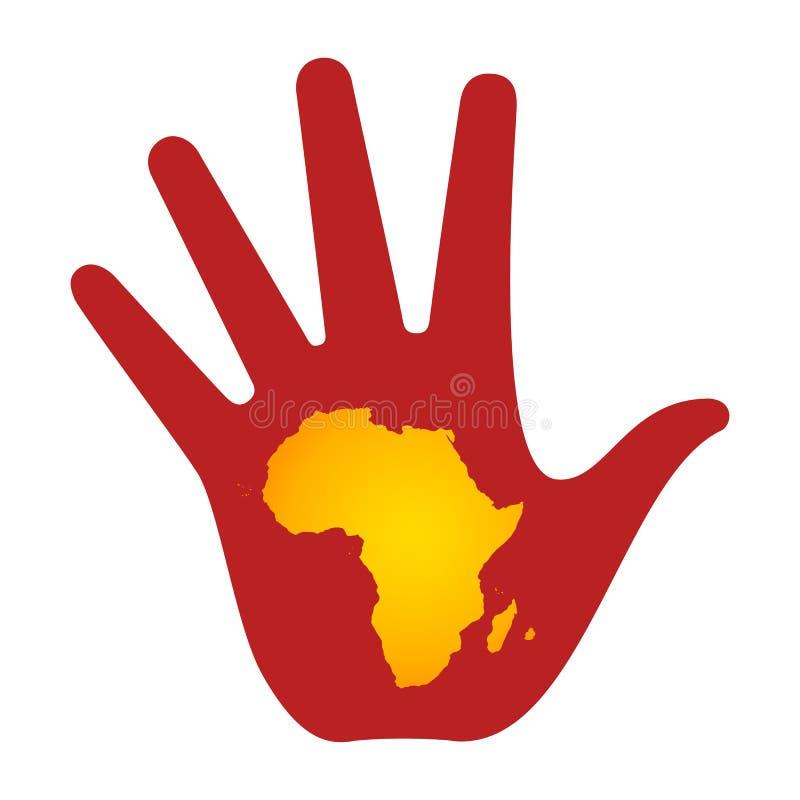Stoppa armod i Afrika royaltyfri illustrationer