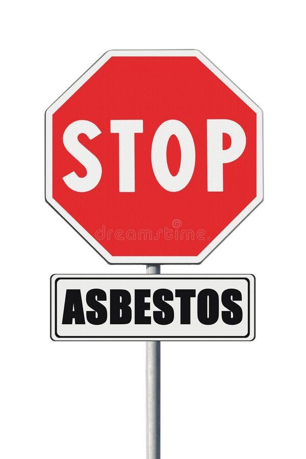 Stoppa asbestbegreppet arkivfoto