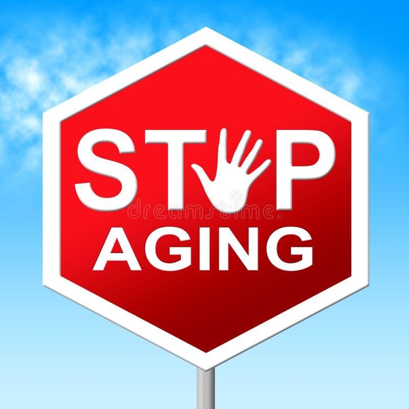 Stoppa att åldras indikerar stagbarn och kontrollerar royaltyfri illustrationer