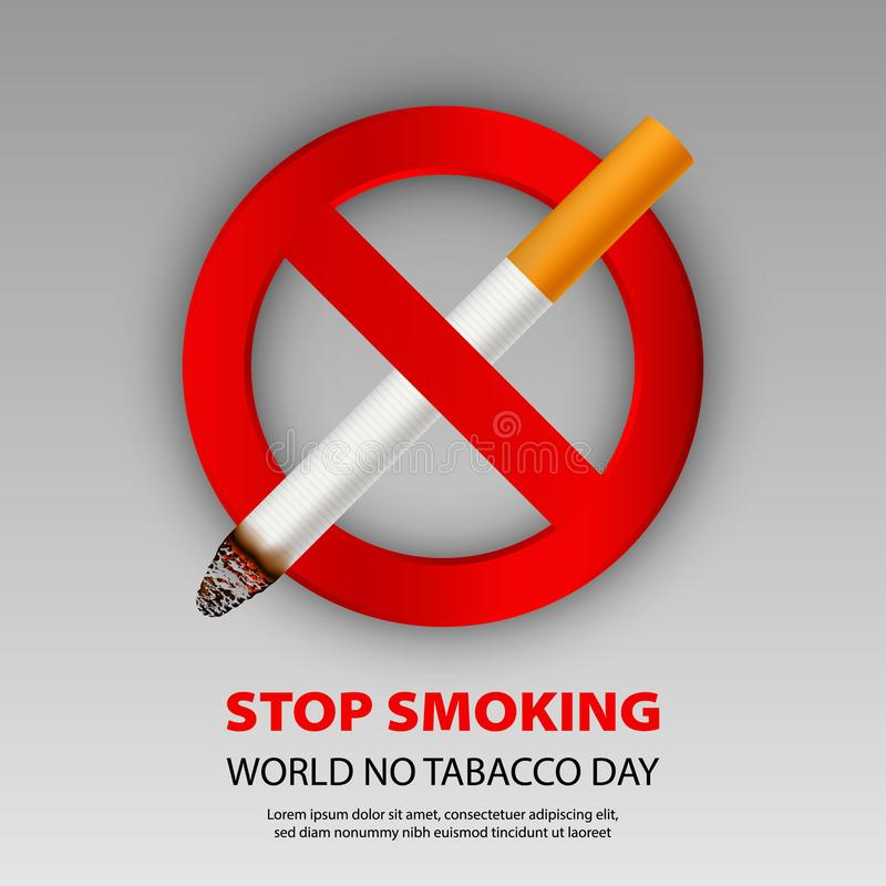 Stoppa att röka begreppsbakgrund, realistisk stil royaltyfri illustrationer