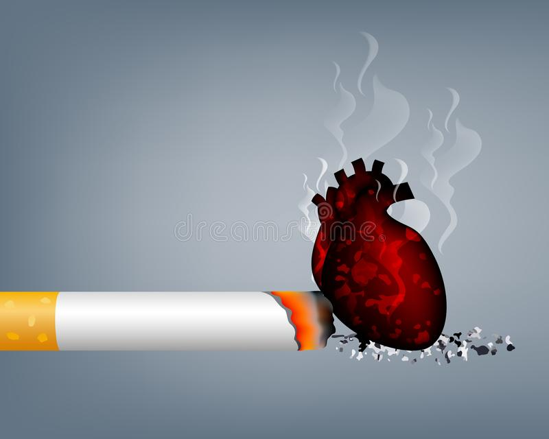 Stoppa att r?ka, v?rlden ingen tobakdag stock illustrationer