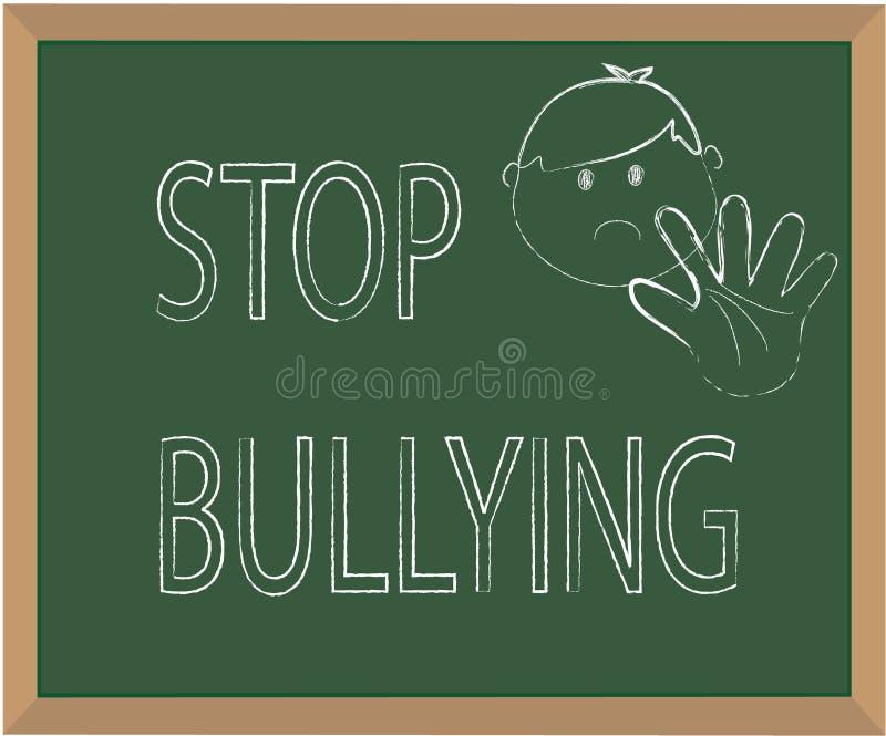 Stoppa att trakassera stock illustrationer
