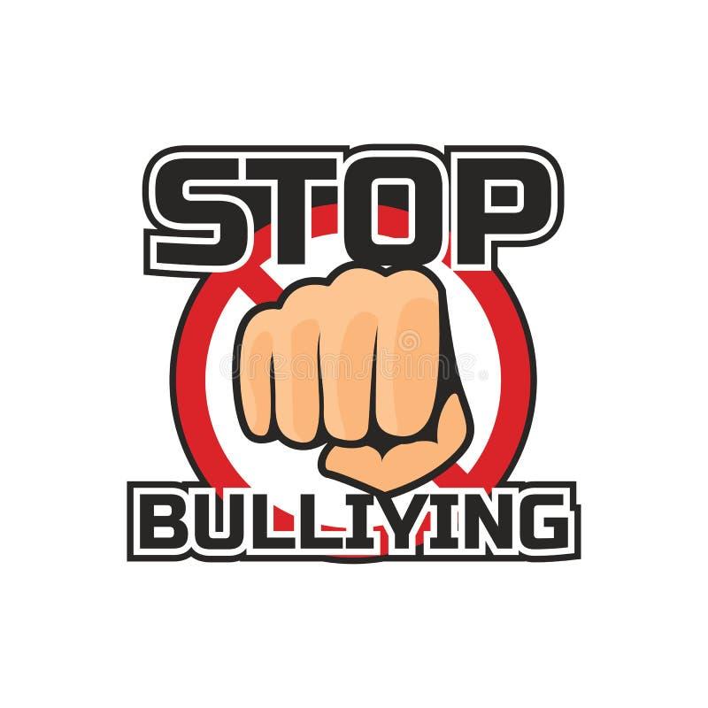 Stoppa att trakassera, ingen trakassera logo, vektorillustration fotografering för bildbyråer