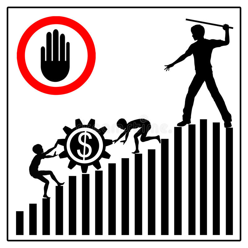 Stoppa barnarbete vektor illustrationer