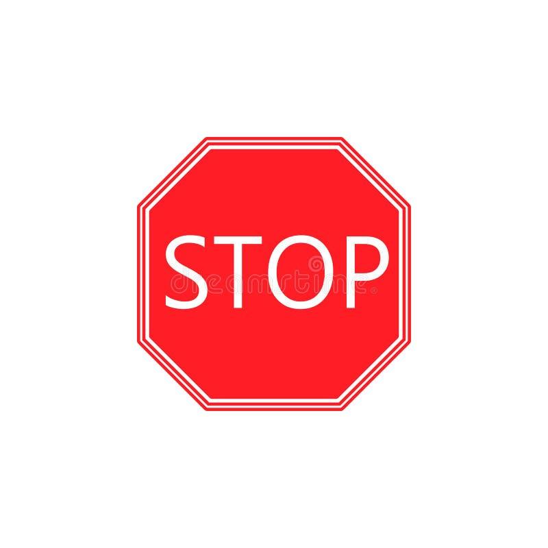 Stoppa den fasta symbolen, reglerande tecken för trafik vektor illustrationer