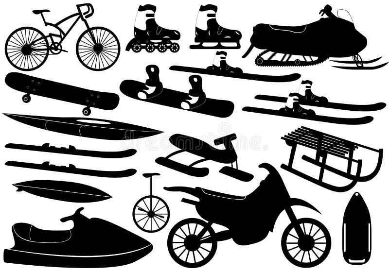 Stoppa för sportar stock illustrationer