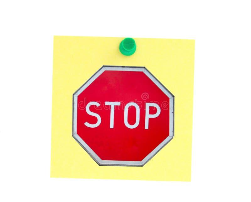 stoppa för stolpe arkivbild