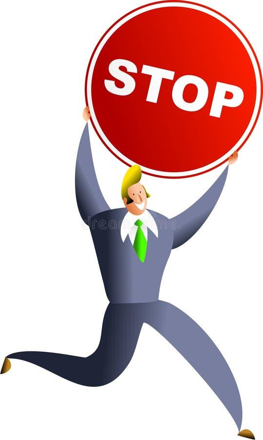 stoppa framgång royaltyfri illustrationer