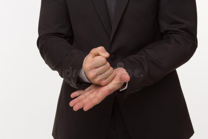 Stoppa gesten av affärsmannen arkivbilder