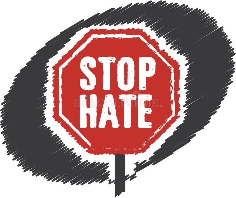 Stoppa hatstopptecknet stock illustrationer