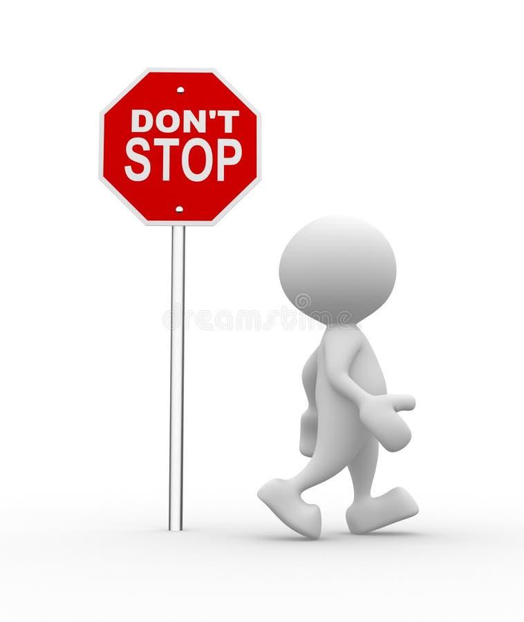 Stoppa inte royaltyfri illustrationer