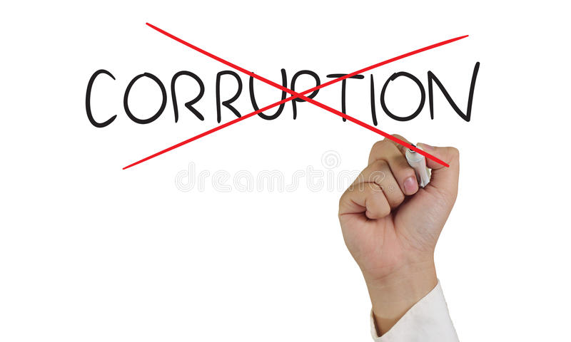 Stoppa korruptionbegreppet arkivfoton