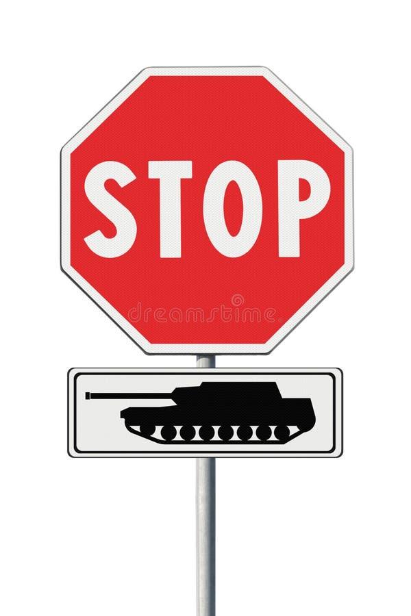 Stoppa kriget - begreppsmässig bild arkivbild
