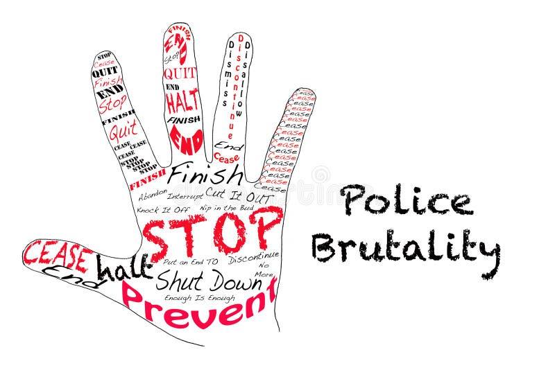 Stoppa polisbrutalitet royaltyfri illustrationer
