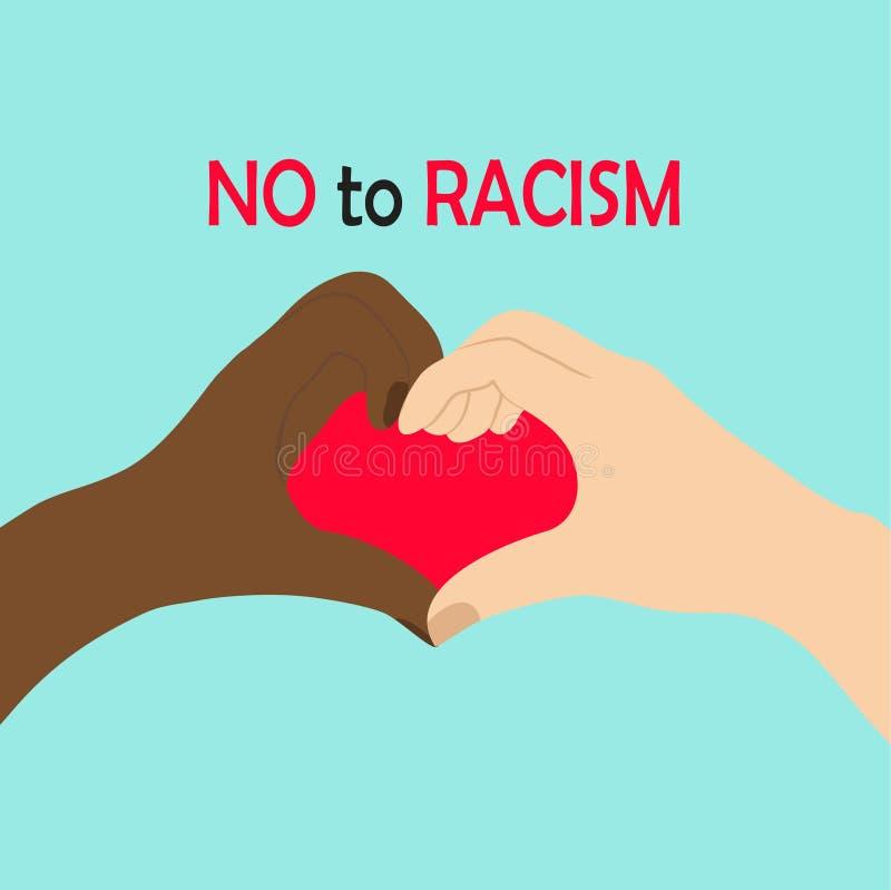 Stoppa rasismsymbolen vektor illustrationer
