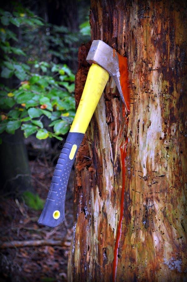 Stoppa skogsavverkning royaltyfria bilder