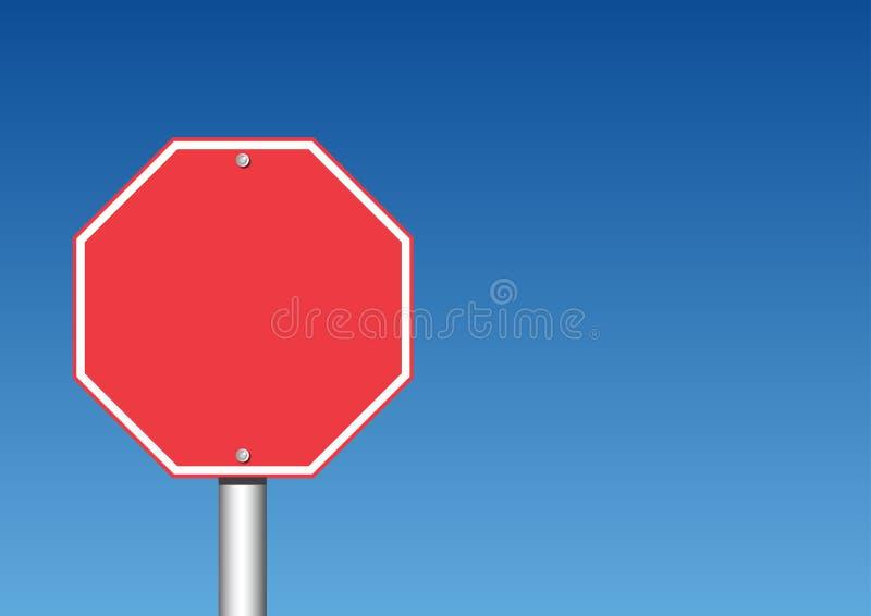 Stoppa tecknet vektor illustrationer