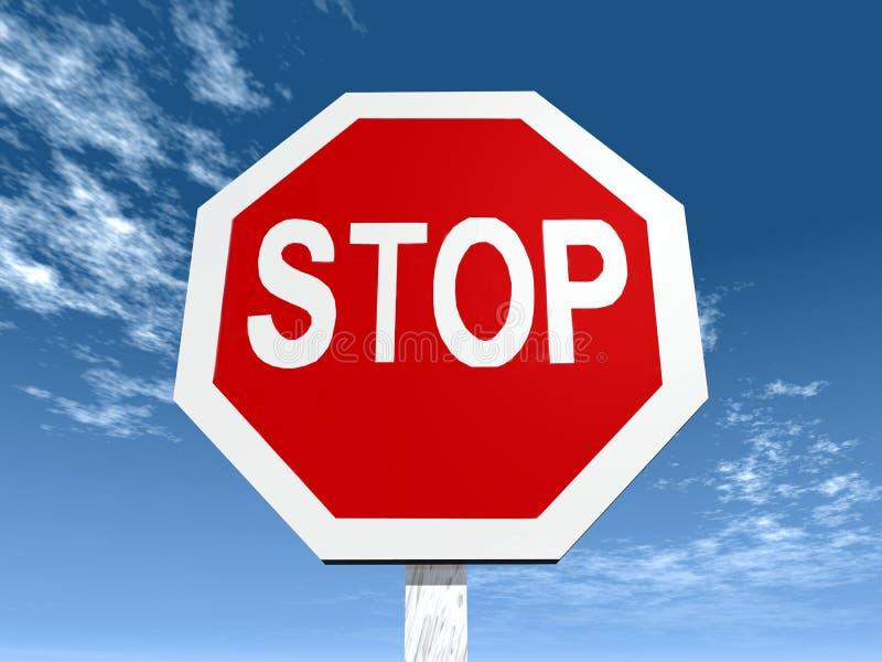 Stoppa tecknet stock illustrationer