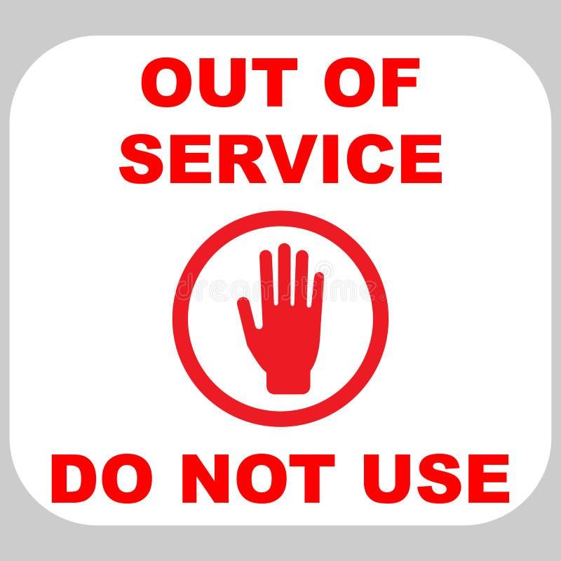 Stoppa tecknet med handen i röd cirkel royaltyfri illustrationer