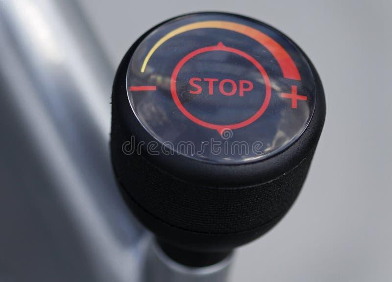 Stoppa tecknet med hastigheter royaltyfria foton