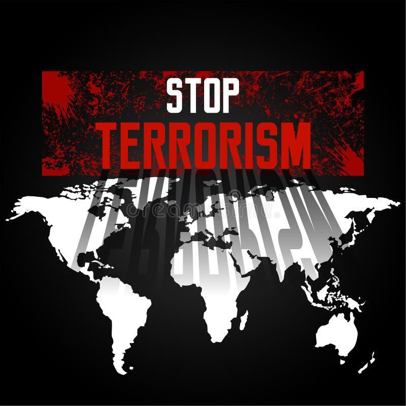 Stoppa terrorism stock illustrationer