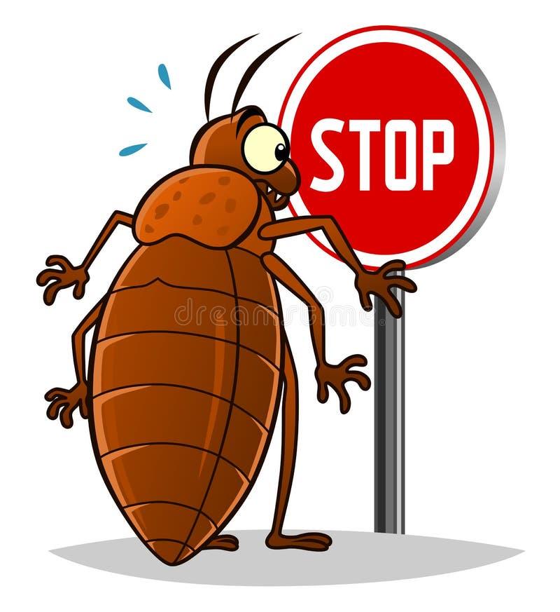 Stoppa vägglöss stock illustrationer