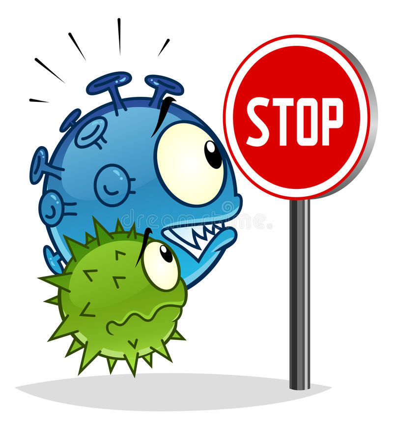 Stoppa virus vektor illustrationer