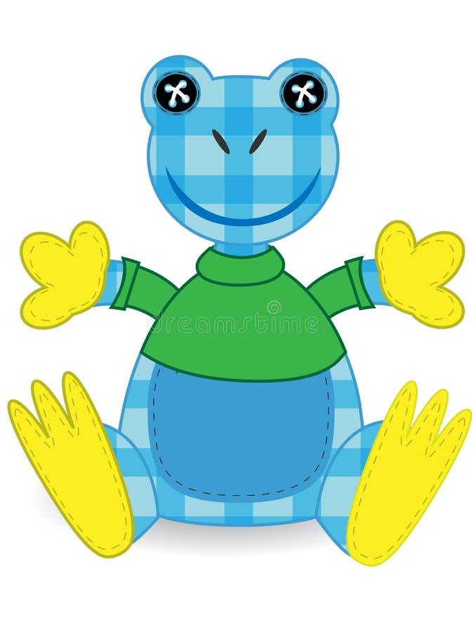 stoppad amazon djur blå grodapatchwork vektor illustrationer