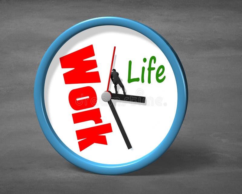 Stoppen der Uhrhand für Lebenraum vektor abbildung