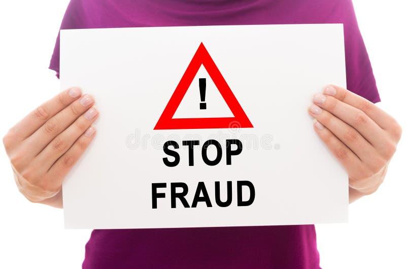 Stoppen Sie Betrug lizenzfreie stockfotos