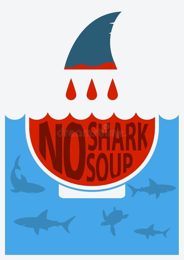 Stoppen Sie den finning Haifisch Auch im corel abgehobenen Betrag stock abbildung
