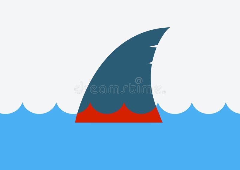 Stoppen Sie den finning Haifisch Satz der Farbflamme vektor abbildung