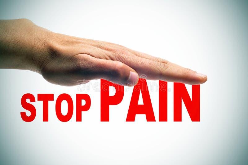 Stoppen Sie die Schmerz lizenzfreie stockfotos