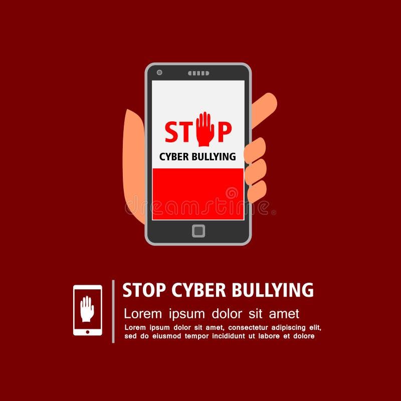 Stoppen Sie Einschüchterungskampagne des Cyber lizenzfreie abbildung