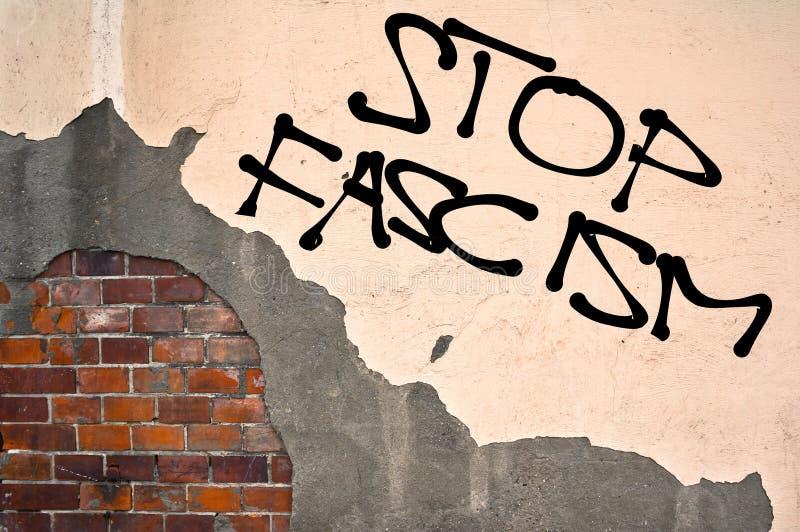 Stoppen Sie Faschismus stockbilder