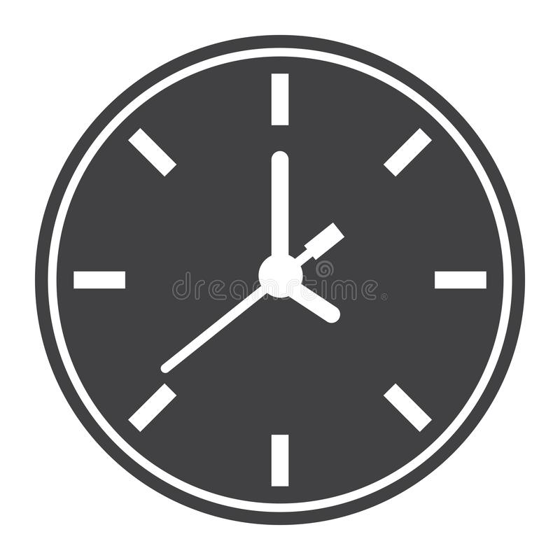 Stoppen Sie festen Ikonen-, Zeit- und Websiteknopf ab vektor abbildung