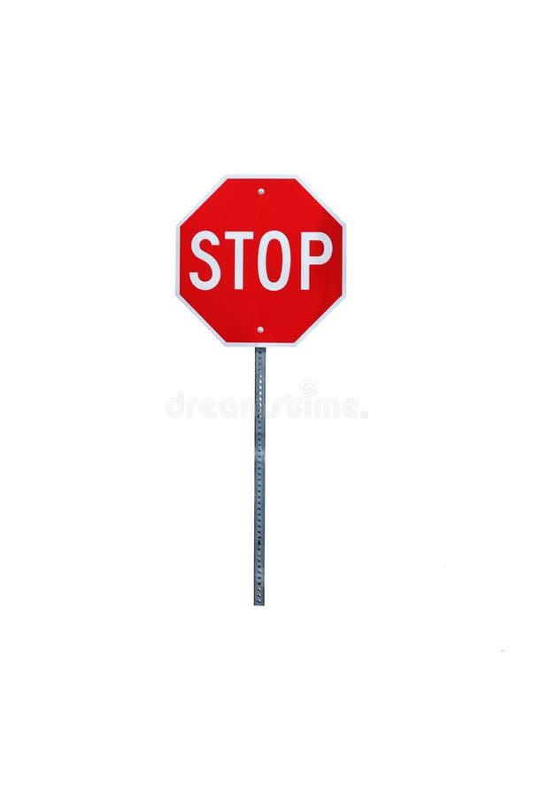 STOPPEN Sie getrennten Zeichen-Pfosten stockbilder