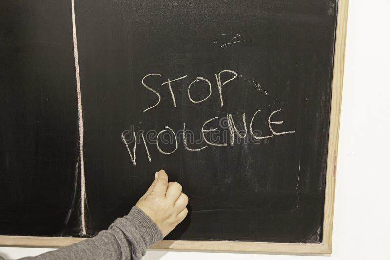 Stoppen Sie Gewalttätigkeit und missbrauchen Sie stockfoto