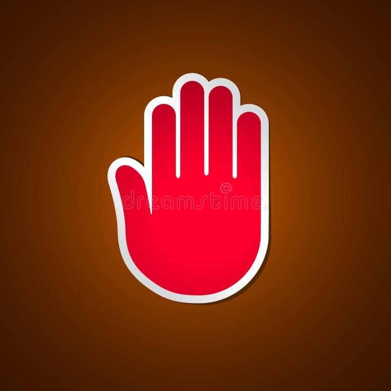 Stoppen Sie Hand