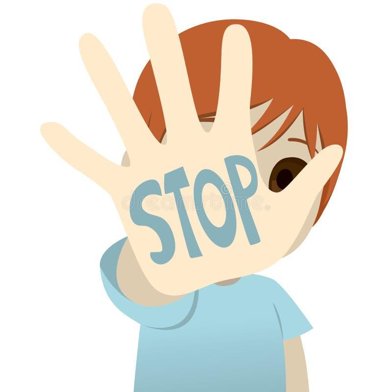 Stoppen Sie Kindesmissbrauch vektor abbildung