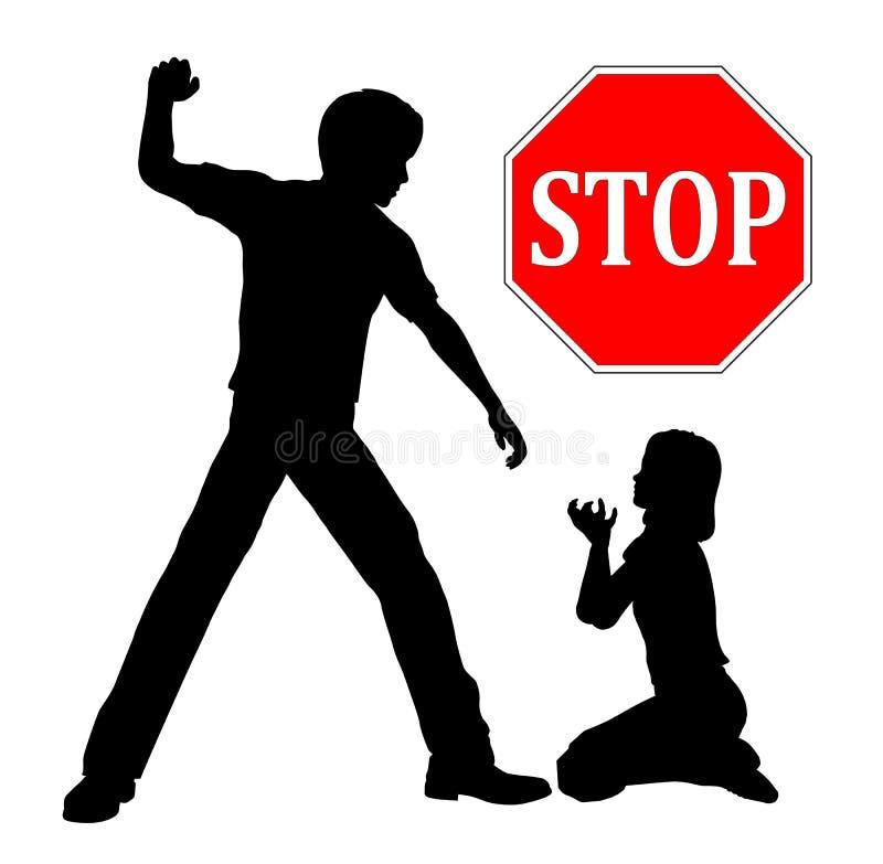 Stoppen Sie Kindesmissbrauch stock abbildung