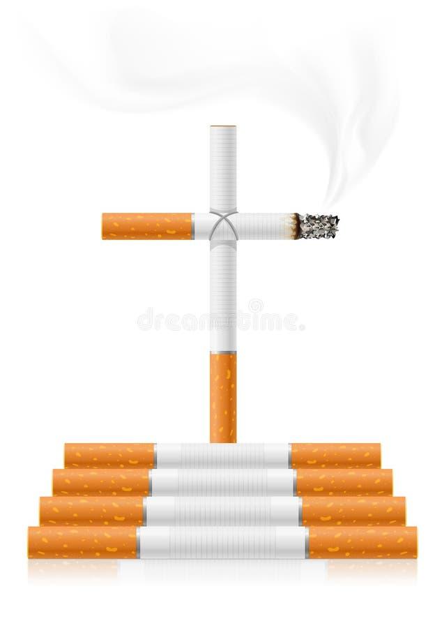 Stoppen Sie, Konzept zu rauchen vektor abbildung