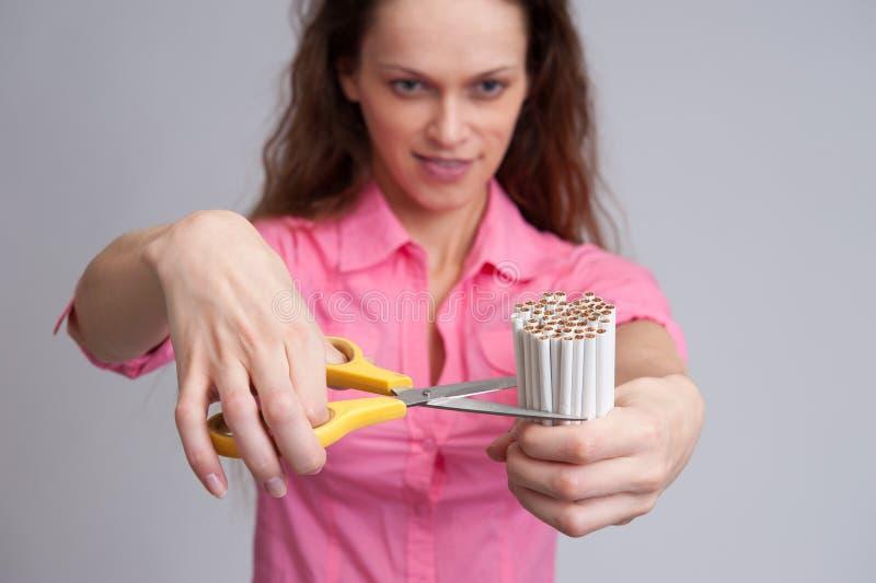 Stoppen Sie, Konzept zu rauchen lizenzfreie stockfotos