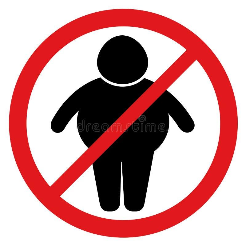 Stoppen Sie Korpulenz und Übergewicht vektor abbildung