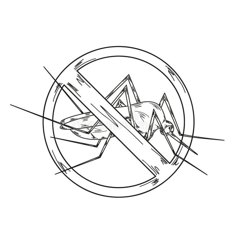 Stoppen Sie Moskito lizenzfreie abbildung